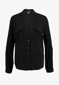 New Look - EARNIE UTILITY PATCH POCKET - Blouse - black - 4