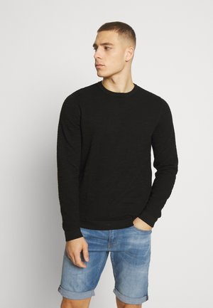 JCOURANUS CREW NECK - Jumper - black