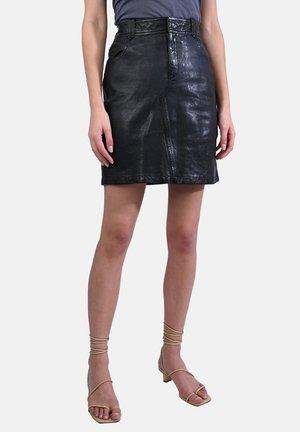 CROSS - Leather skirt - black