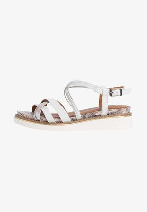 Wedge sandals - white comb