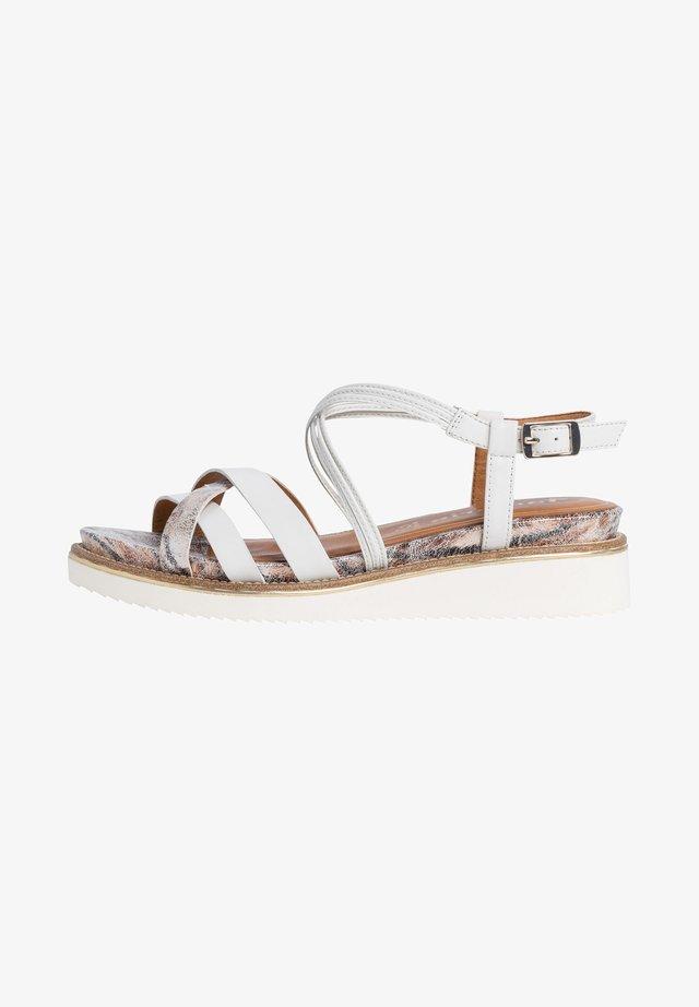 Sandales compensées - white comb