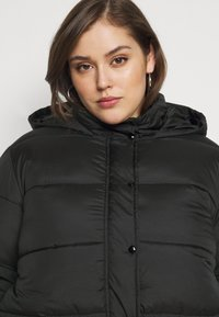Missguided Plus - HOODED PUFFER JACKET - Winter jacket - black - 3