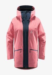 Haglöfs - LUMI INSULATED PARKA - Snowboard jacket - tulip pink/tarn blue - 4