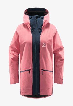LUMI INSULATED PARKA - Snowboard jacket - tulip pink/tarn blue