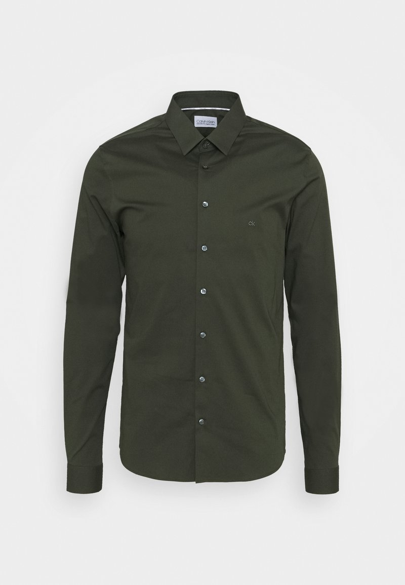 Calvin Klein Tailored - LOGO STRETCH EXTRA SLIM - Formal shirt - green