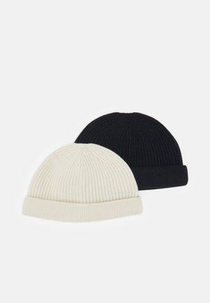 ONSSHORT BEANIE 2 PACK - Bonnet - black/white