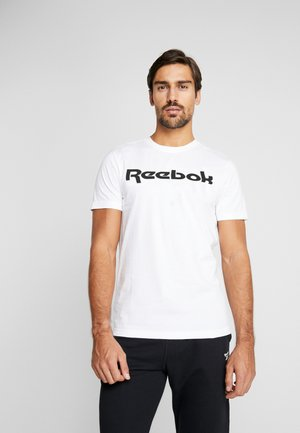 LINEAR READ TEE - T-shirt z nadrukiem - white