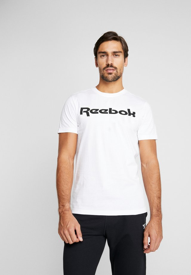 LINEAR READ TEE - T-shirts med print - white
