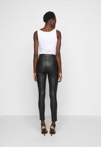 Missguided Tall - SPLIT HEM VICE WITH ZIPS - Jeans straight leg - black - 2