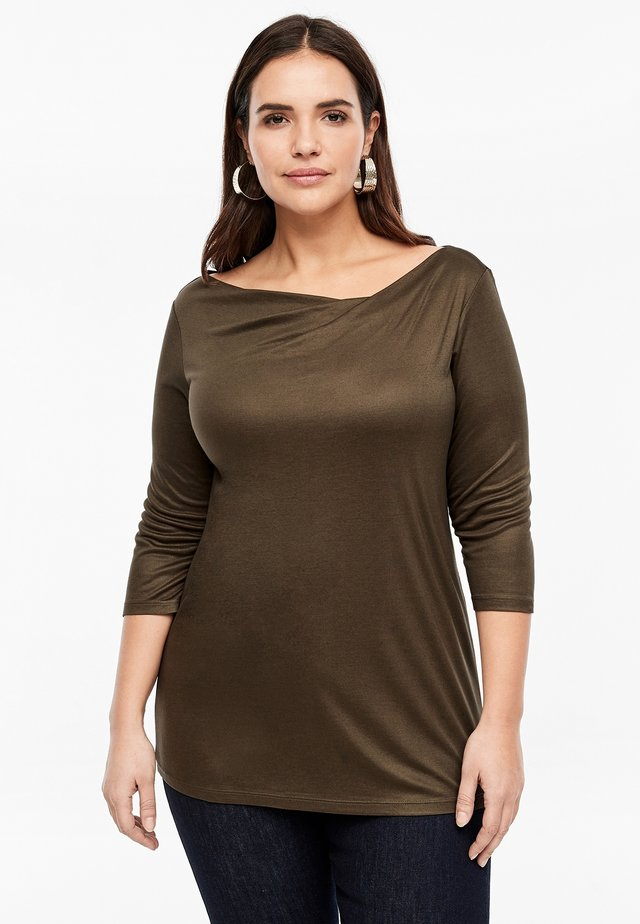 MIT WASSERFALL - Long sleeved top - brown