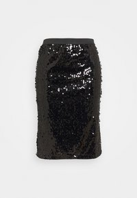 CAPSULE by Simply Be - VALUE SEQUIN SKIRT - Pencil skirt - black - 0