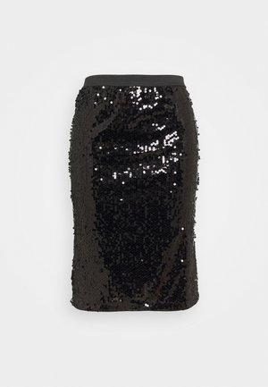 VALUE SEQUIN SKIRT - Jupe crayon - black