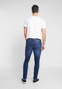 TOM TAILOR DENIM - CULVER STRETCH - Jeans Skinny Fit - used dark stone blue denim - 2