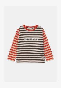 Marimekko - VEDE TASARAITA UNISEX - T-shirt à manches longues - dark brown/off white - 0