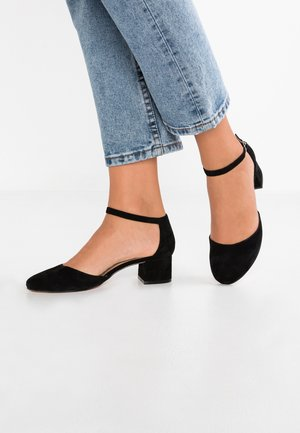 LEATHER CLASSIC HEELS - Czółenka - black
