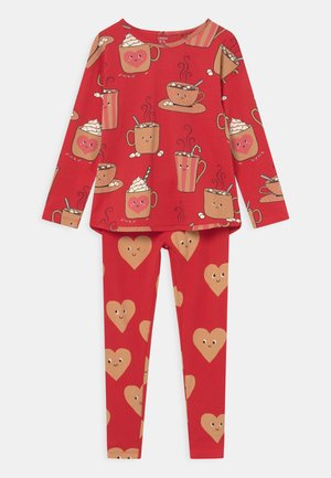 HOT COCOA SET UNISEX - Leggings - Trousers - red