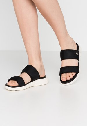 ENYA - Sandalias planas - black