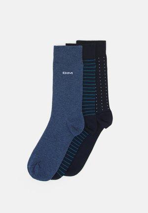 CREW SOCKS 3 PACK - Sokken - navy blue/jean