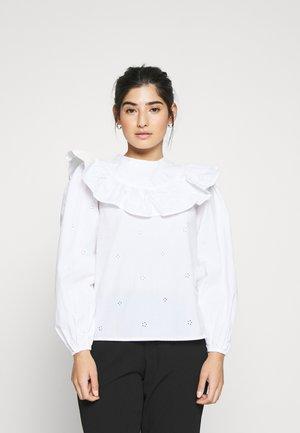 POPLIN YOKE PINTUCK - Blouse - white