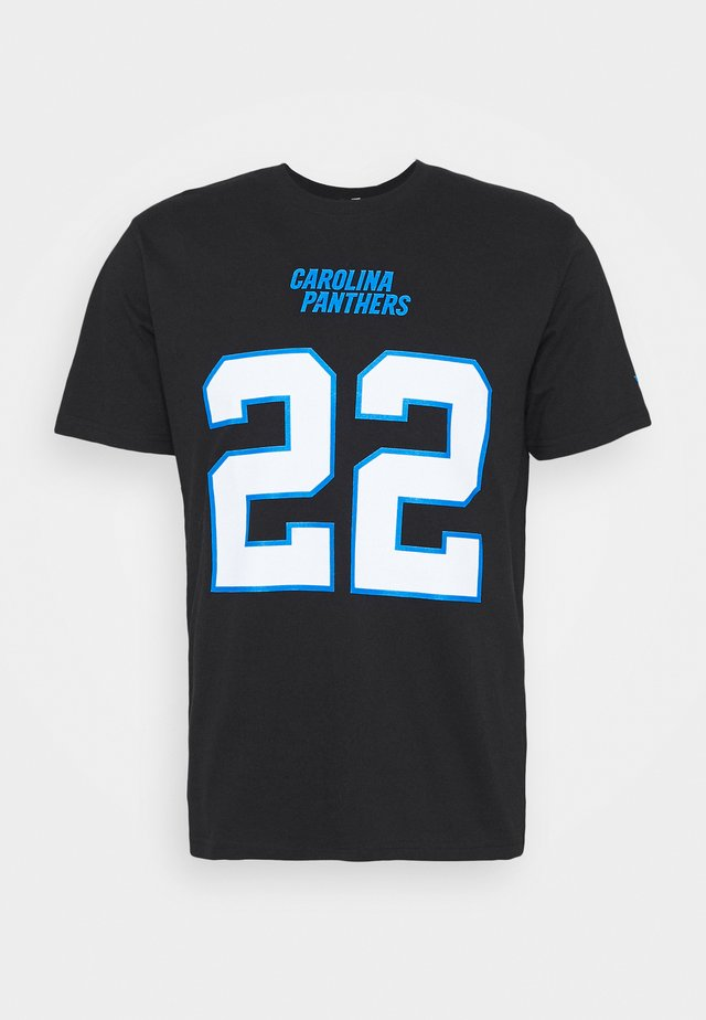 NFL CHRISTIAN MCCAFFREY CAROLINA PANTHERS ICONIC NAME & NUMBER  - Fanartikel - black