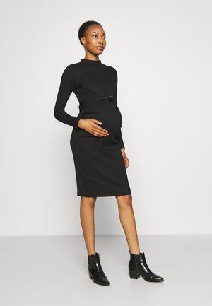 DRESS - Pletené šaty - black