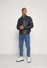 G-Star - HAWORX - Leather jacket - garris washed/mazarine blue - 1