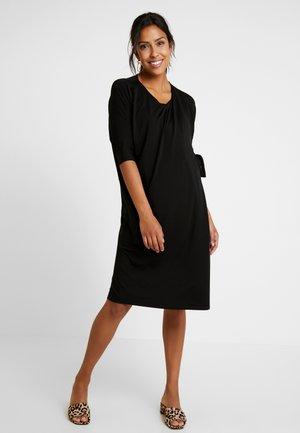 WONTON DRESS - Žerzejové šaty - black
