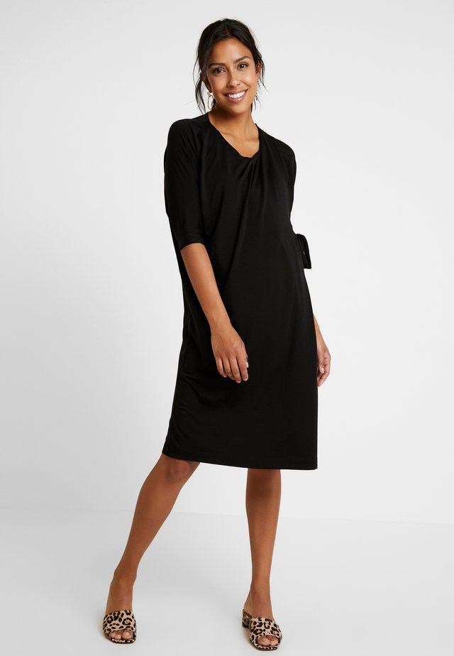 WONTON DRESS - Jerseyklänning - black