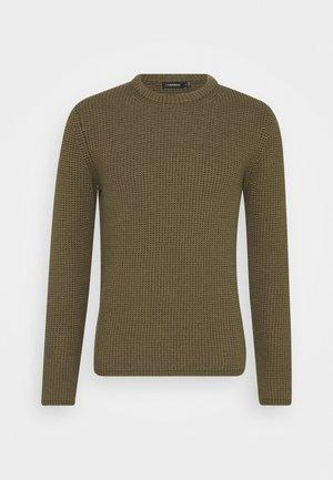 REMUS STRUCTURED  - Stickad tröja - moss green