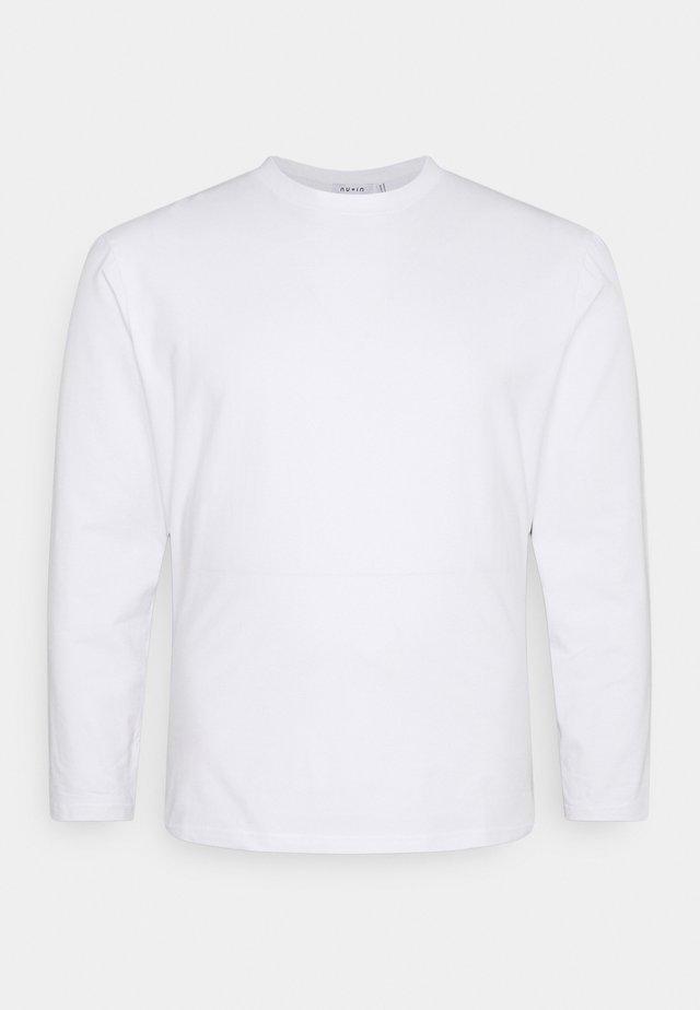 PLUS LONG SLEEVE CREW NECK - Maglietta a manica lunga - optical white