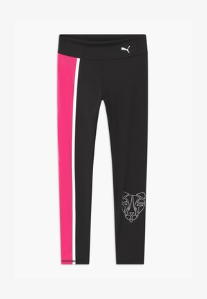 RUNTRAIN - Legginsy - puma black/luminous pink