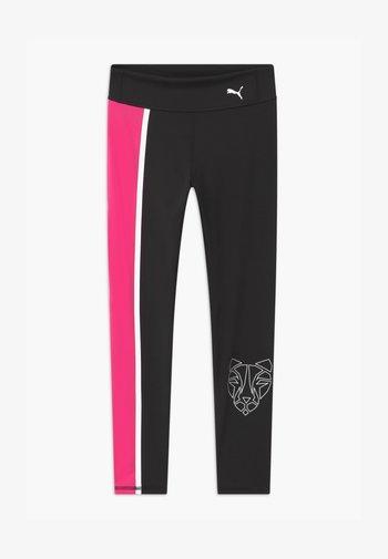 RUNTRAIN - Leggings - puma black/luminous pink
