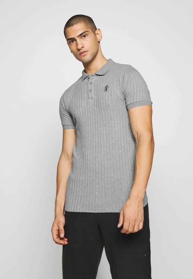 MUSCLE FIT - Polo - grey marl