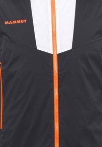 Mammut - RIME LIGHT IN FLEX VEST - Waistcoat - black/white/vibrant orange - 2