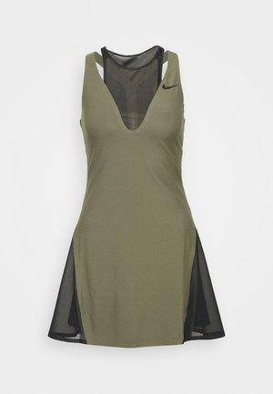 MARIA DRESS - Sports dress - medium olive/black