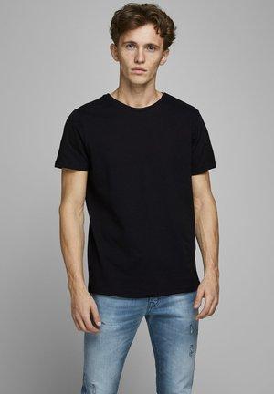 JJELINEN BASIC TEE SS CREW NECK STS - Basic T-shirt - black