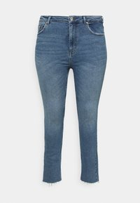 ONLY Carmakoma - CARRICA LIFE ANKLE - Jeans a sigaretta - light blue denim - 3