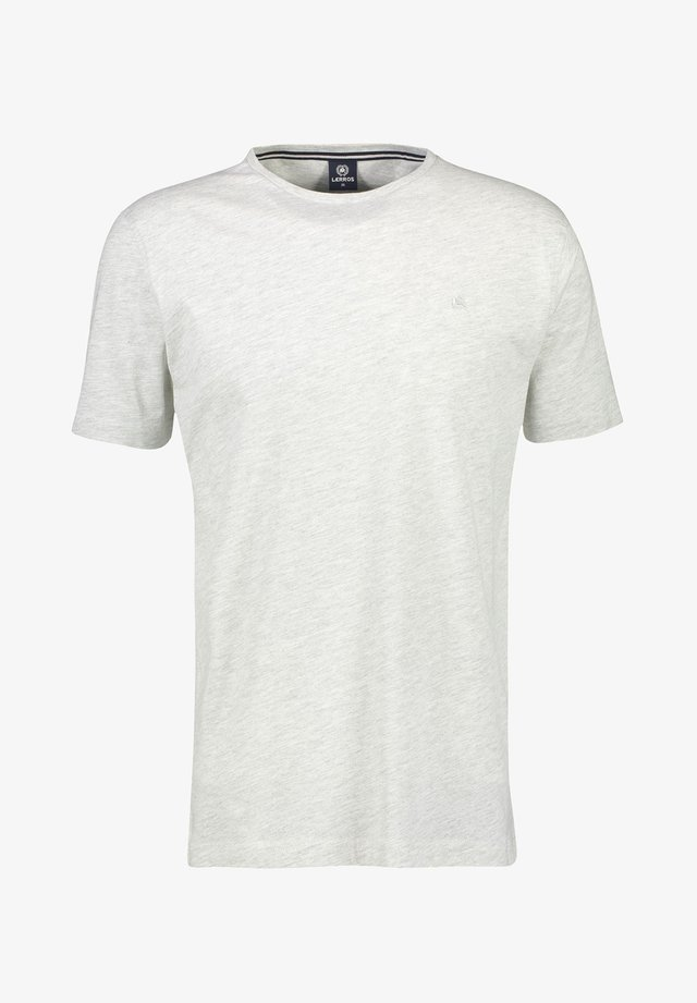 KLASSISCHES T-SHIRT - Basic T-shirt - broken white mel
