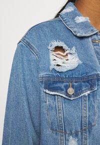 Missguided - DISTRESSED BOYFRIEND JACKET - Denim jacket - blue - 4