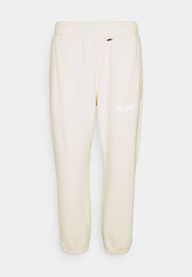 032c - GLOW IN THE DARK PANTS - Teplákové kalhoty - natural white