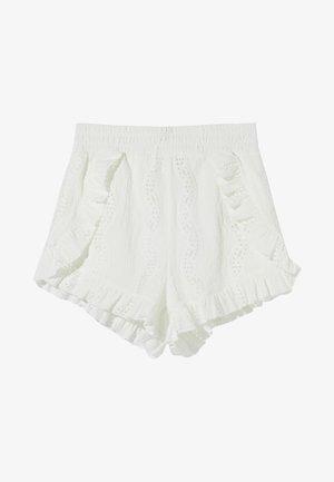 RUFFLED  - Shorts - off white
