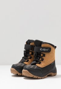 Kickers - JUMP - Winter boots - black/camel - 3