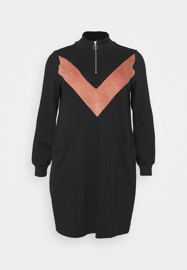 MELUNA DRESS - Robe d'été - black/burlwood