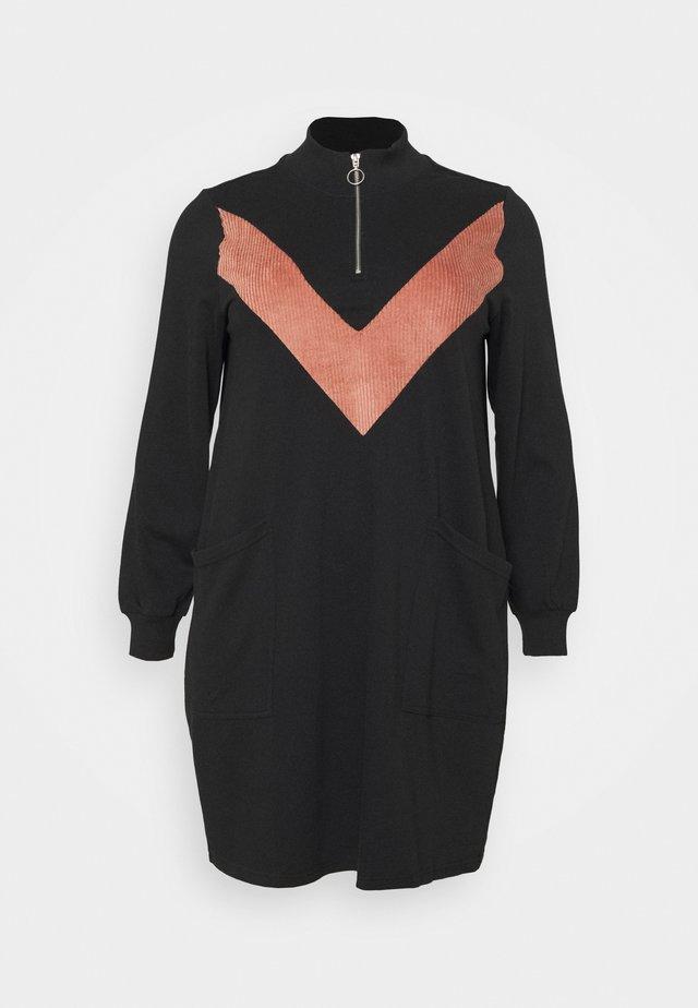 MELUNA DRESS - Vapaa-ajan mekko - black/burlwood