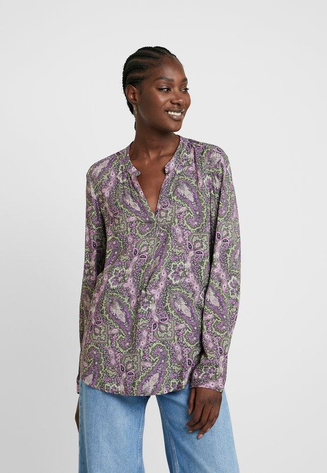 Bluse - khaki/lila