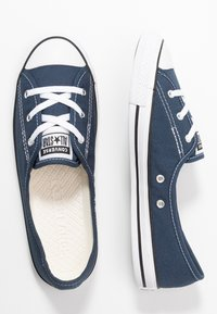 Converse - CHUCK TAYLOR ALL STAR BALLET LACE - Slip-ons - navy/white/black - 3