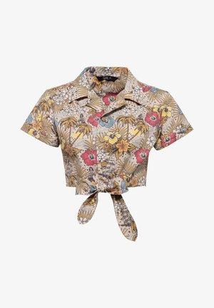 MIT HAWAIIANISCHEM MUSTER - Button-down blouse - offwhite