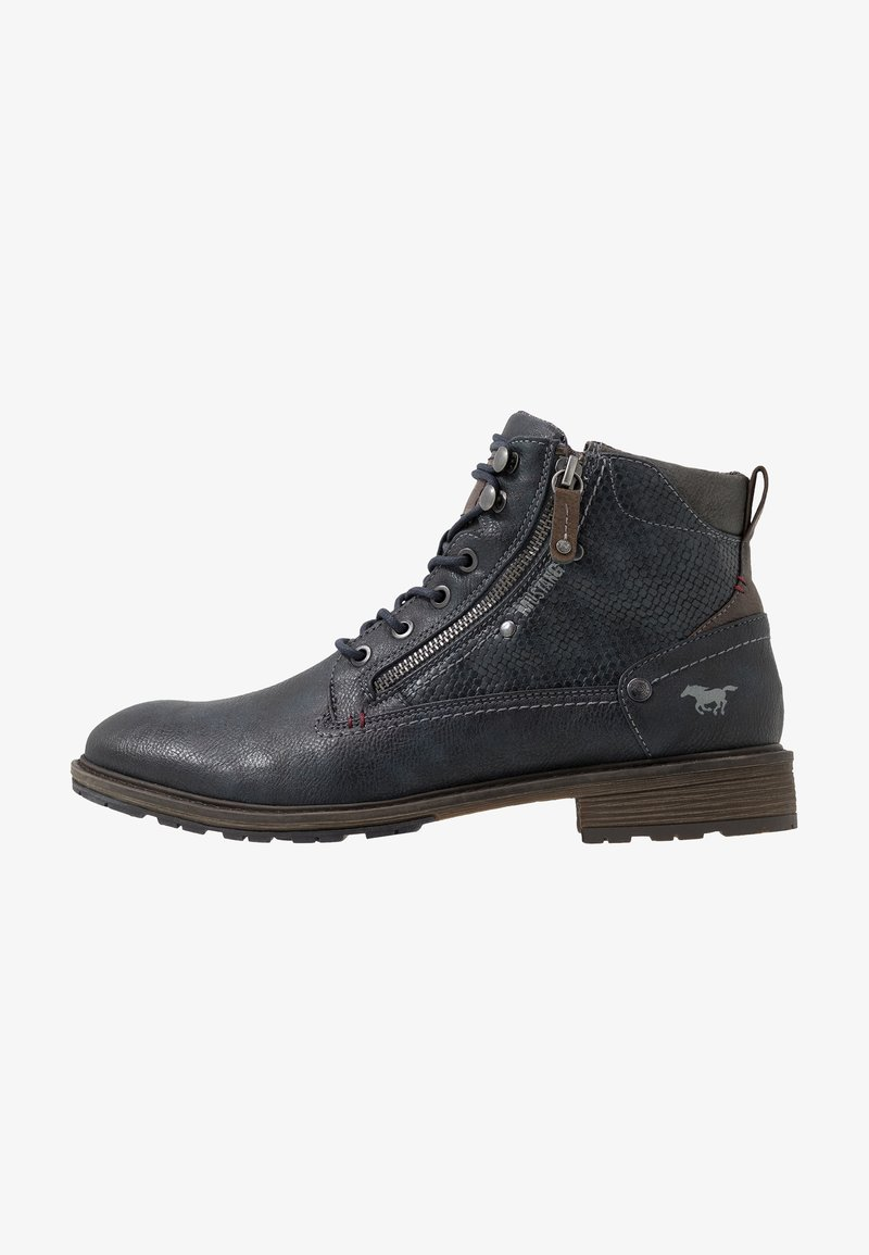 Mustang - Bottines à lacets - navy