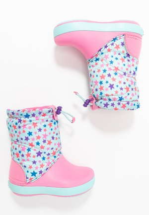 LODGEPOINT GRAPHIC - Snowboots  - ice blue/pink lemonade