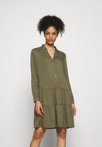 Esprit - DRESS - Day dress - khaki green - 0